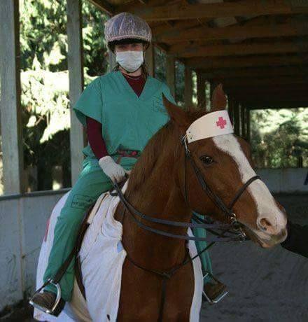 Disfraz caballo enfermero